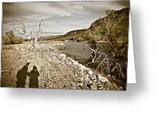 Shadows Lurking Greeting Card by Keith Sanders