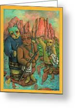 Shamans Of Sedona  Greeting Card by Janice Hightower