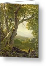 Shandaken Ridge - Kingston Greeting Card by Asher Brown Durand