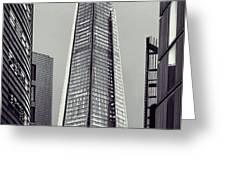 Shard of Glass Greeting Card by Jasna Buncic