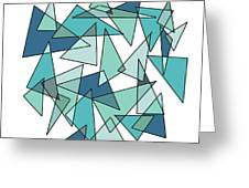 Shards Of Blue Greeting Card by ME Kozdron