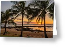 Sharks Cove Sunset 4 - Oahu Hawaii Greeting Card by Brian Harig