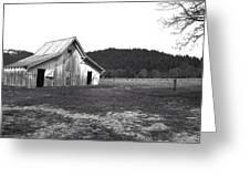 Shasta Barn Greeting Card by Kathy Yates