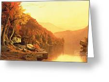 Shawanagunk Mountains Greeting Card by Jervis McEntee