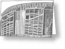 Shea Stadium Greeting Card by Juliana Dube
