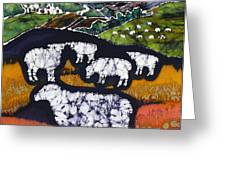 Sheep at Midnight Greeting Card by Carol  Law Conklin