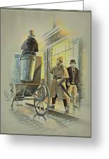 Sherlock Holmes At The Northumberland Greeting Card by Tony Hough