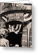 Shibe Park - Connie Mack Stadium Greeting Card by Bill Cannon