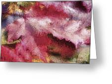 Shimmering Leaves Greeting Card by Marilyn Sholin