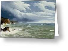 Shipping in Open Seas Greeting Card by David James