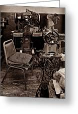 Shoe Hospital - Sepia Greeting Card by Christopher Holmes