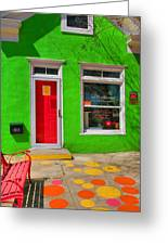 Shop Colors Greeting Card by Steven Ainsworth