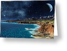 Shore and ocean Greeting Card by Heinz G Mielke