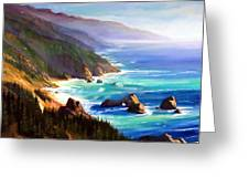 Shore Trail Greeting Card by Frank Wilson