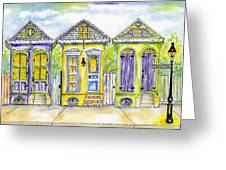 Shotgun Houses Greeting Card by Catherine Wilson