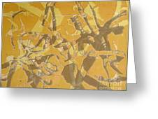 Shredded Notebook Stencil Greeting Card by Ron Bissett
