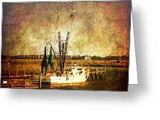 Shrimp Boat In Charleston Greeting Card by Susanne Van Hulst