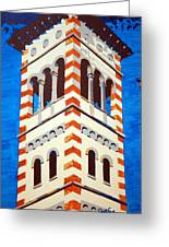 Shrine Bell Tower Detail Greeting Card by Sheri Parris