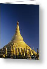 Shwedagon Paya Greeting Card by William Waterfall - Printscapes