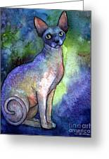 Shynx Cat 2 Painting Greeting Card by Svetlana Novikova