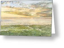 Siesta Key Sunset Greeting Card by Shawn McLoughlin