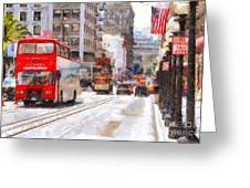 Sightseeing Along Powell Street In San Francisco California . 7d7269 Greeting Card by Wingsdomain Art and Photography