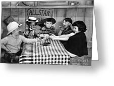 Silent Film: Little Rascals Greeting Card by Granger