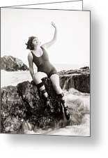 Silent Still: Bather Greeting Card by Granger