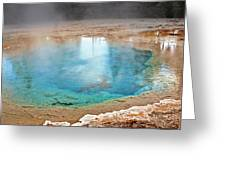 Silex Spring Fountain Paint Pot Yellowstone National Park Wy Greeting Card by Christine Till