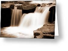Silken Waters Greeting Card by Tamyra Ayles