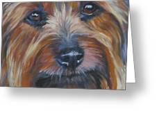Silky Terrier Greeting Card by Lee Ann Shepard