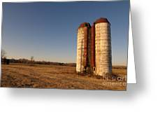 Silos 1 Greeting Card by Miguel Celis