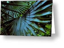 Silver Palm Leaf Greeting Card by Susanne Van Hulst