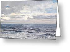 Silver Sea Greeting Card by Henry Moore