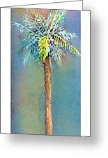 Simple Palm Tree Greeting Card by Arline Wagner