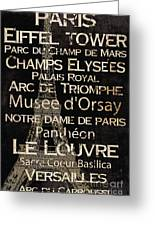 Simple Speak Paris Greeting Card by Grace Pullen