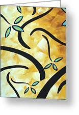 Simply Glorious 2 By Madart Greeting Card by Megan Duncanson