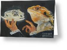 Sir Bearded-dragon As Hamlet Greeting Card by Jessmyne Stephenson