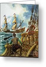 Sir Francis Drake Greeting Card by Peter Jackson