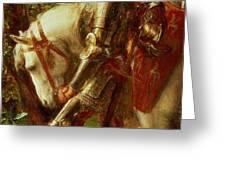 Sir Galahad Greeting Card by George Frederic Watts