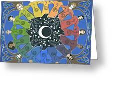 Sister Circle Greeting Card by Karen MacKenzie