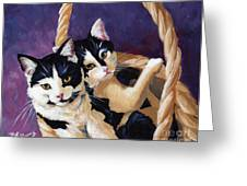 Sisters Greeting Card by Pat Burns