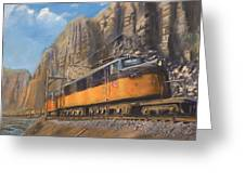 Sixteen Mile Canyon Greeting Card by Christopher Jenkins