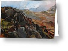 Sketch In Snowdonia Greeting Card by Harry Robertson