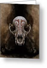 Skull Fall Greeting Card by Kalynn Kallweit