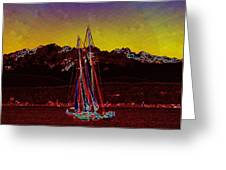 Sky Diamonds Greeting Card by Tim Allen