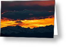 Sky Lava Greeting Card by Colleen Coccia