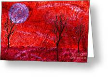Sky Of Fire Greeting Card by Mimo Krouzian