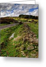 Sky On The Tor  Greeting Card by Rob Hawkins