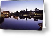 Skyline Over The R Garavogue, Sligo Greeting Card by The Irish Image Collection